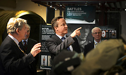 © London News Pictures. 25/09/2015. Blenheim, UK.  British prime minister DAVID CAMEON during a visit to the Soldiers of Oxfordshire Museum in Woodstock in Oxfordshire. Photo credit: Richard Cave/LNP