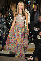 © Licensed to London News Pictures. 17/09/2016.  CAPRICE attends the ASHLEY ISHAM Spring/Summer 2017 show. Models, buyers, celebrities and the stylish descend upon London Fashion Week for the Spring/Summer 2017 clothes collection shows. London, UK. Photo credit: Ray Tang/LNP