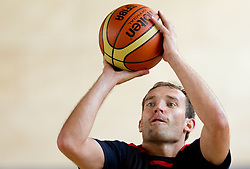Samo Udrih during media day at training camp of Slovenian National Basketball team for Eurobasket Lithuania 2011, on July 19, 2011, in Arena Ljudski vrt, Ptuj, Slovenia.  (Photo by Vid Ponikvar / Sportida)