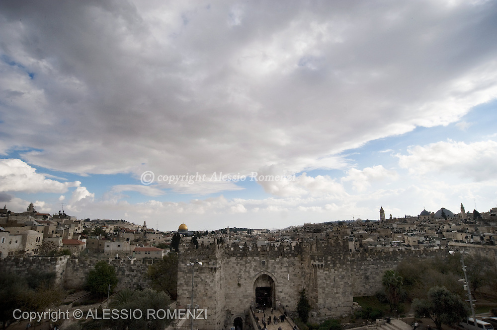 Jerusalem: This picture shows a view of the Old City of Jerusalem on December 8, 2009. © ALESSIO ROMENZI