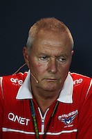 John Booth (GBR) Marussia F1 Team Team Principal in the FIA Press Conference.<br /> Italian Grand Prix, Friday 5th September 2014. Monza Italy.