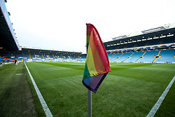 A general view of Elland Road, home to Leeds United with rainbow coloured flags in support of the Rainbow laces campaign - Mandatory by-line: Robbie Stephenson/JMP - 24/11/2018 - FOOTBALL - Elland Road - Leeds, England - Leeds United v Bristol City - Sky Bet Championship
