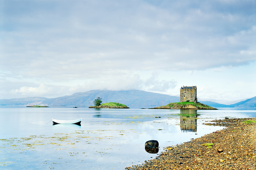 Castle Stalker on Loch Linnhe near Port Appin south west of Ballachulish. Western Highlands, Scotland, UK