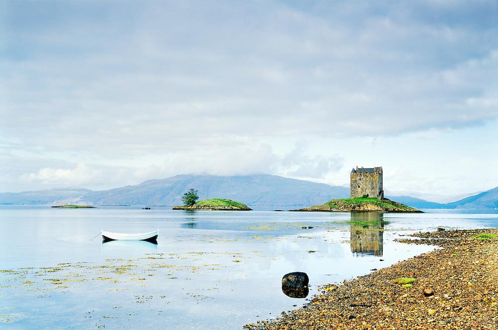 Castle Stalker on Loch Linnhe near Port Appin south west of Ballachulish. Western Highlands, Scotland, UK