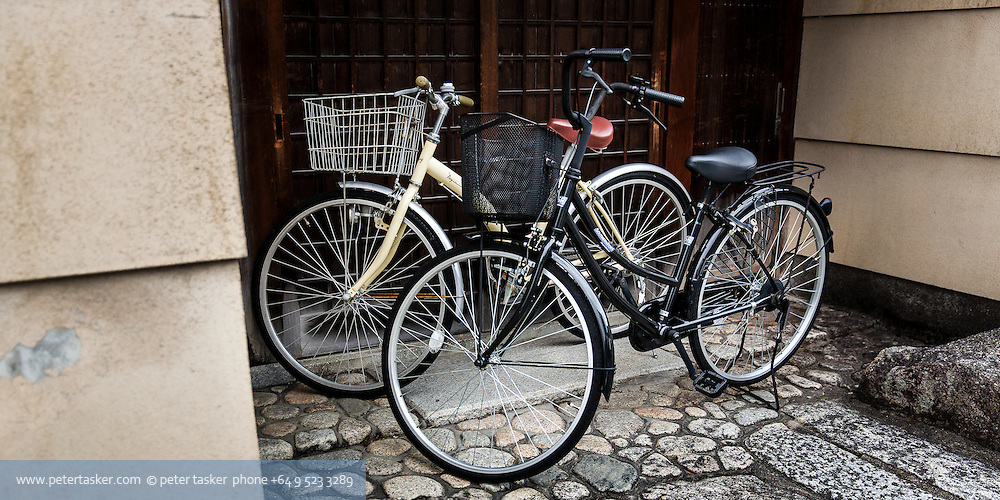 Mamachari style bicycles in Japan.