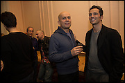 MARC QUINN; ANDREAS SIEGFRIED, James Franco talk and supper at Mansfield St. hosted by Maja Hoffmann. London. 23 November 2014