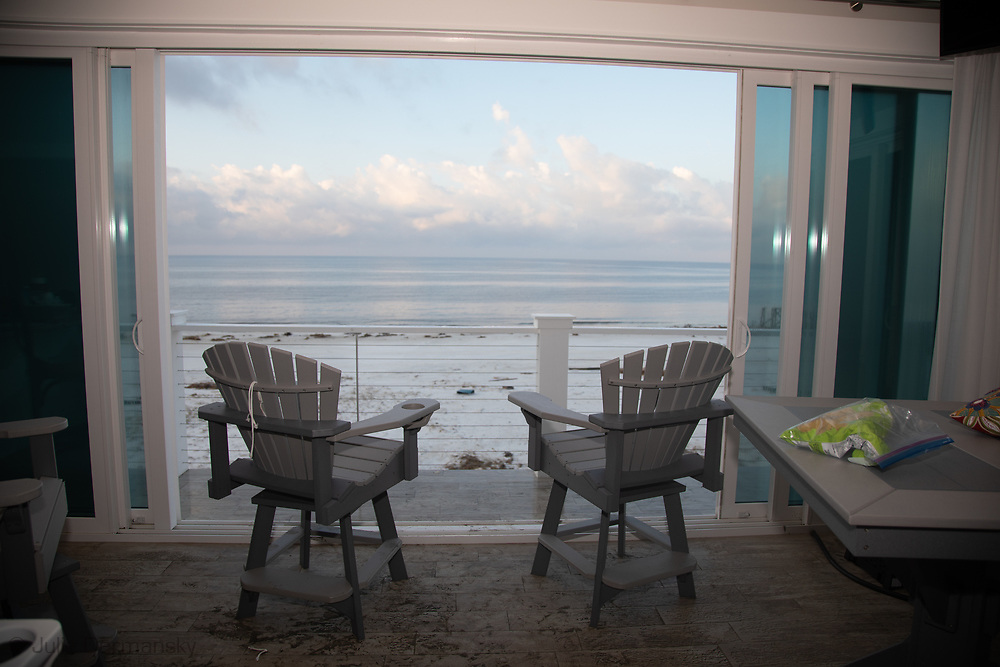 View from the Sand Palace, the only house in Mexico Beach , Florida, on the beach that survied Hurricane Michael with little damage.