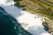 Nederland, Friesland, Terschelling, 05-08-2014; strandhuisje op  Noordzeestrand ter hoogte van de natuurgebied de Boschplaat. <br /> Wadden island Terschelling, North Sea beach.<br /> luchtfoto (toeslag op standard tarieven);<br /> aerial photo (additional fee required);<br /> copyright foto/photo Siebe Swart
