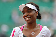 Roland Garros. Paris, France. May 30th 2012.American player Venus WILLIAMS against Agnieszka RADWANSKA.