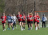 St Paul's School girls varsity lacrosse with Andover.  Karen Bobotas for St Paul's School.