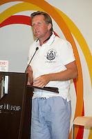 """LOS EX FUTBOLISTAS BERND SCHUSTER DURANTE LA PRESENTACION DEL PARTIDO BENEFICO """"GRACIAS"""" CON MOTIVO DE LAS JMJ 2011.11/08/2011.MADRID"""