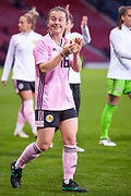 Scotlands Christie MURRAY (Liverpool FCW (ENG)) applauds the fans following their win over Jamaica during the International Friendly match between Scotland Women and Jamaica Women at Hampden Park, Glasgow, United Kingdom on 28 May 2019.