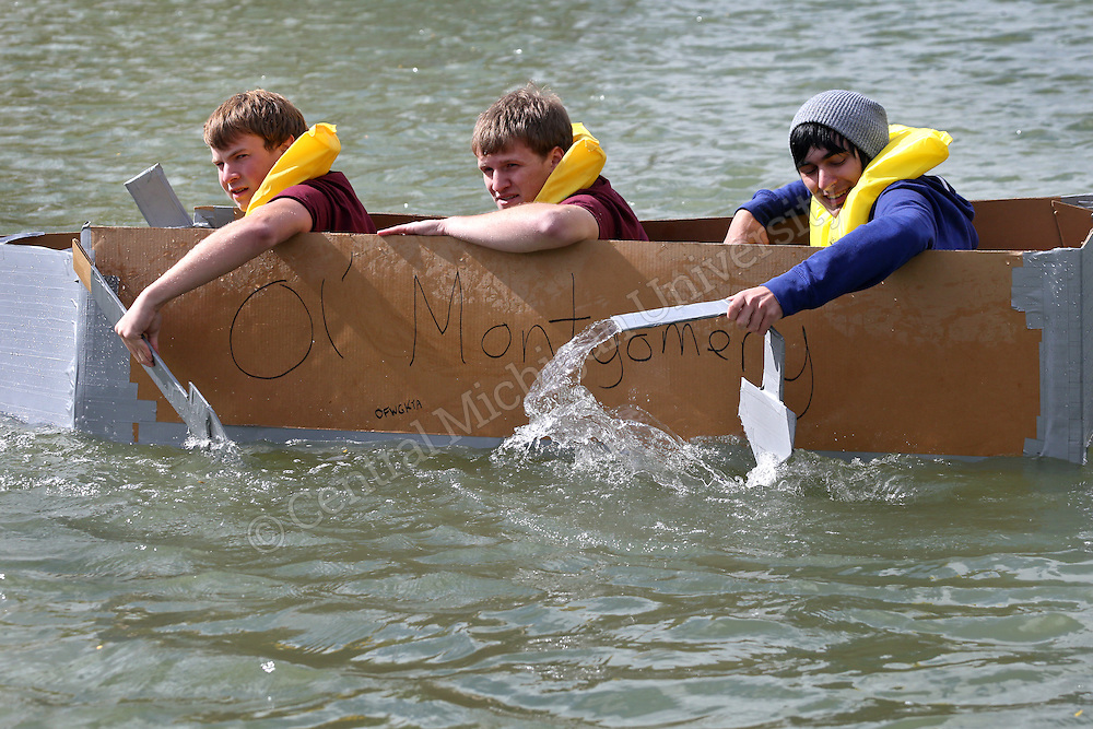Homecoming activity- CST Cardboard Boat Races on Saturday October 4, 2014. Photos by Steve Jessmore/Central Michigan University