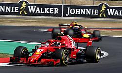 July 8, 2018 - Silverstone, Great Britain - Motorsports: FIA Formula One World Championship 2018, Grand Prix of Great Britain, .#7 Kimi Raikkonen (FIN, Scuderia Ferrari) (Credit Image: © Hoch Zwei via ZUMA Wire)