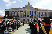Confetti flies at the University of Rochester's Commencement Ceremony on Sunday, May 18, 2014.