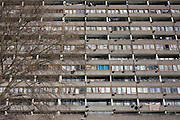 The tall block of flats on the Thurlow Street estate, on 28th November 2016, in the south London borough of Southwark, England.