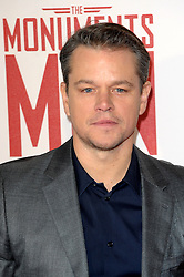 Matt Damon attends the UK Premiere of 'The Monuments Men' at Odeon Leicester Square , United Kingdom. Tuesday, 11th February 2014. Picture by Chris Joseph / i-Images
