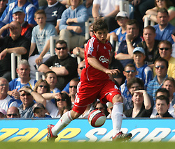 Portsmouth, England: Saturday, April 28, 2007: Liverpool's Emilliano Insua in action against Portsmouth during the Premiership match at Fratton Park (Pic by Chris Ratcliffe/Propaganda)
