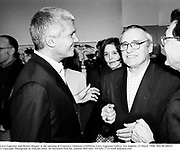 Larry Gagosian and Dennis Hopper at the opening of Francesco Clemente exhibition. Larry Gagosian Gallery. Los Angeles. 23 March 1996. film 96186f35<br />