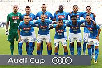 Formazione del Napoli, Line Ups Team<br /> Monaco 02-08-2017  Stadio Allianz Arena<br /> Football Audi Cup 2017 <br /> Bayern Monaco - Napoli<br /> Foto Cesare Purini / Insidefoto