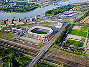 Nederland, Zuid-Holland, Rotterdam, 14-09-2019; Stadsgezicht Rotterdam-Zuid. Zicht op stadsdeel Feijenoord, stadion Feijenoord, De Kuip. <br /> Cityscape Rotterdam-South. District Feijenoord. Feijenoord stadium, De Kuip.<br /> luchtfoto (toeslag op standard tarieven);<br /> aerial photo (additional fee required);<br /> copyright foto/photo Siebe Swart