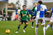 Scunthorpe United Midfielder, Duane Holmes (19) during the EFL Sky Bet League 1 match between Bristol Rovers and Scunthorpe United at the Memorial Stadium, Bristol, England on 25 February 2017. Photo by Adam Rivers.
