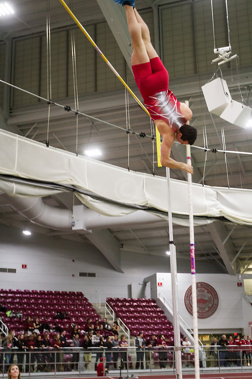 Boston University Multi-team indoor track & field, men pole vault, BU, Nikolaos Farmakidis,