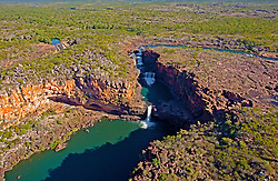 Aerial view of Mitchell Falls