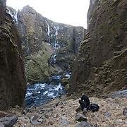 Viktor Þór Jörgensson at Þórólfsá, Fljótshlíð, Iceland.