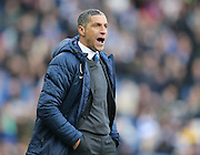 Brighton manager Chris Hughton during the Sky Bet Championship match between Brighton and Hove Albion and Birmingham City at the American Express Community Stadium, Brighton and Hove, England on 21 February 2015.