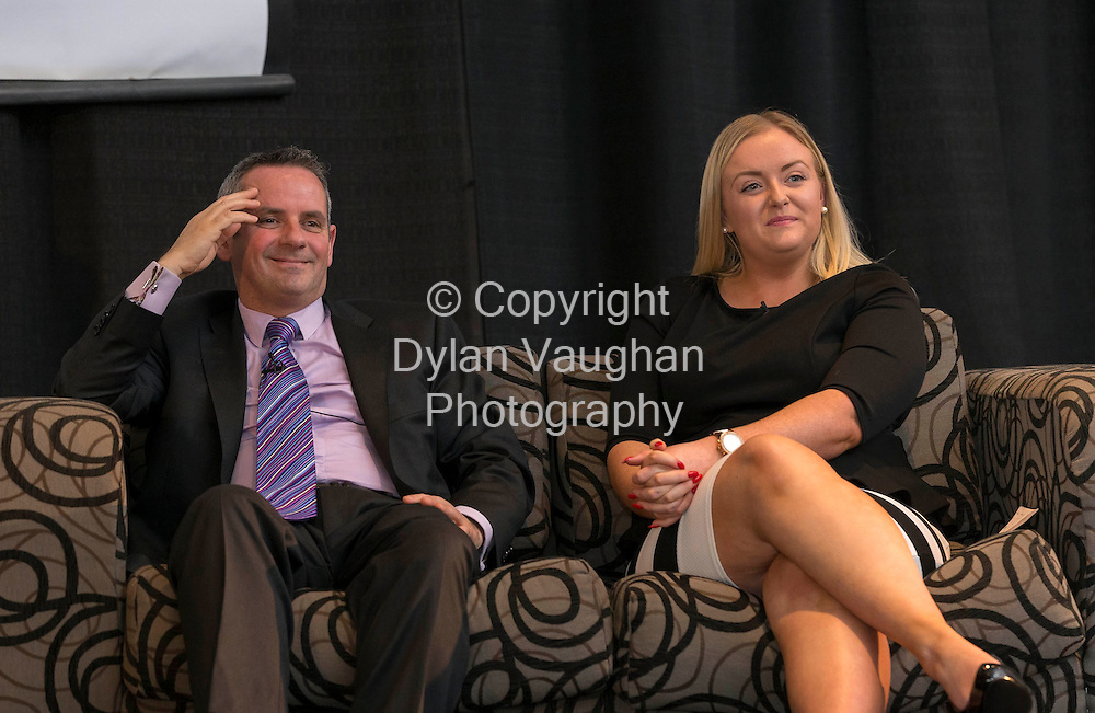 Repro Free No Charge for Repro.24/5/2012...Pictured at the IMPACT Conference in Whites Hotel in Wexford was Paul Reid, chief operations officer, Department of Public Expenditure and Reform and Tara Keane, Organiser, Mandate Trade Union..Picture Dylan Vaughan.