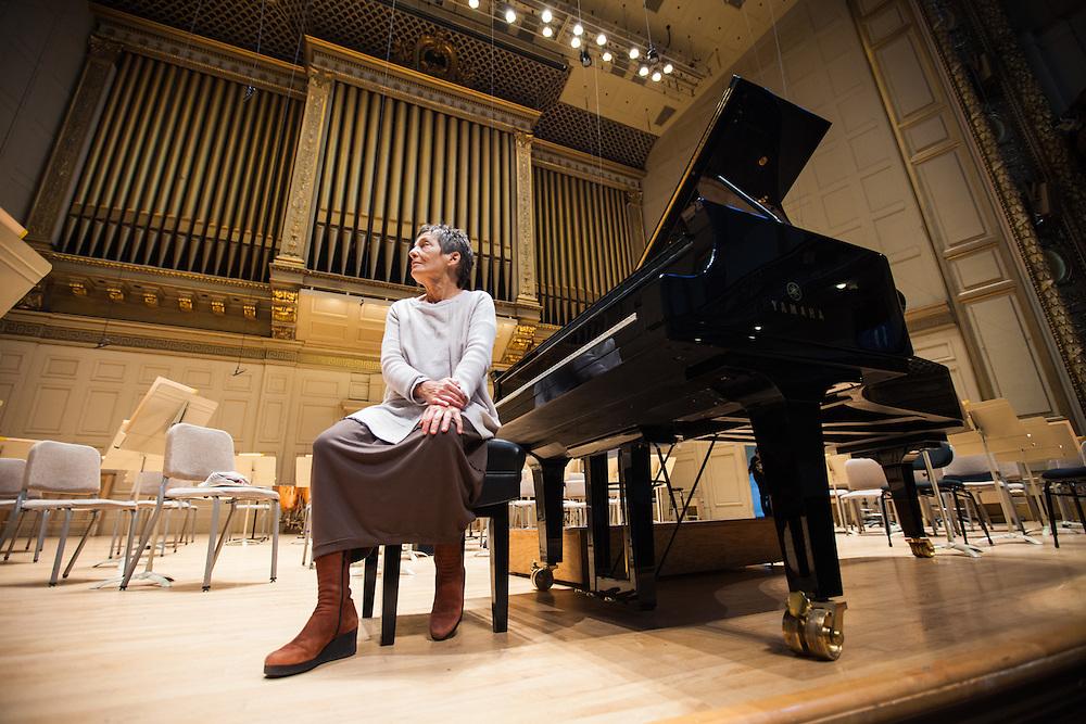 Yamaha promo photo at Symphony Hall, Boston