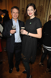 NICHOLAS DUNBAR son of Marianne Faithfull and JASMINE GUINNESS at a party to celebrate the publication of 'Arthur's Road' a biography of Arthur Guinness written by Patrick Guinness held at the Irish Embassy, London on 6th March 2008.<br /><br />NON EXCLUSIVE - WORLD RIGHTS