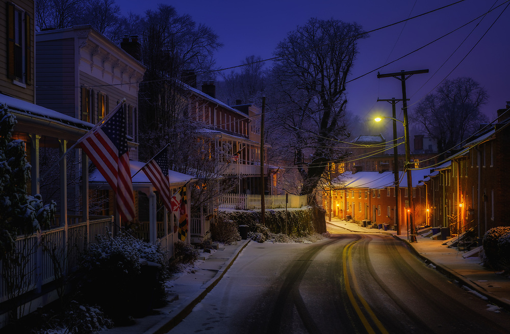 Oella Dusk and Snow