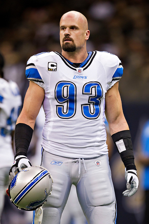 NEW ORLEANS, LA - DECEMBER 4:   Kyle Vanden Bosch #93 of the Detroit Lions warms up before a game against the New Orleans Saints at Mercedes-Benz Superdome on December 4, 2011 in New Orleans, Louisiana.  The Saints defeated the Lions 31-17.  (Photo by Wesley Hitt/Getty Images) *** Local Caption *** Kyle Vanden Bosch