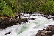 Stamp River Falls in Stamp River Provincial Park near Port Alberni, British Columbia, Canada