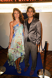 Actress GIOIA MARZOCCHI and LEANDRO DA SILVA at the Launch of Peroni Nastro Azzurro Accademia del Film Wrap Party Tour held atThe Boiler House, 152 Brick Lane, London E1 on 25th August 2010.