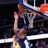 09 March 2018: Denver Nuggets forward Paul Millsap (4) goes for the layup during the Denver Nuggets125-116 victory over the Los Angeles Lakers, at the Pepsi Center, Denver, Colorado, USA.