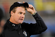 Florida Tuskers head coach Jay Gruden during his team's game against the Hartford Colonials at the Florida Citrus Bowl on November 11, 2010 in Orlando, Florida. The Tuskers won the game 41-7.<br /> (AP Photo/Scott A. Miller)