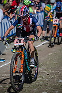 Erin Huck (USA) during the Cross Country Olympics event at the 2018 UCI MTB World Championships - Lenzerheide, Switzerland