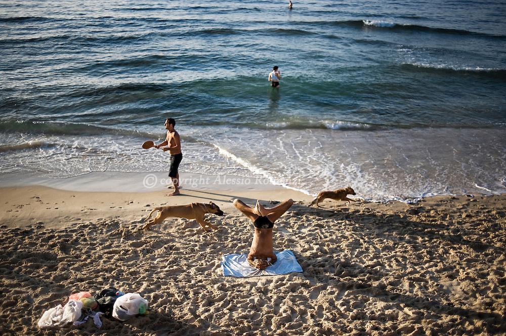 Israel, Tel Aviv, beach of Manta Ray on January 9, 2010 © ALESSIO ROMENZI