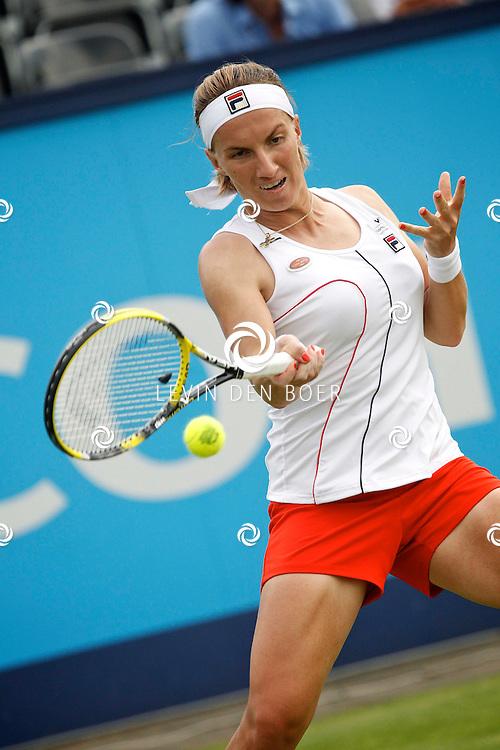 ROSMALEN - Op de Unicef Open is dit de wedstrijd tussen Svetlana Kuznetsova en Sara Errani.  Met op de foto tennisster Svetlana Kuznetsova. FOTO LEVIN DEN BOER - PERSFOTO.NU
