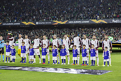 November 8, 2018 - Seville, Spain - Lineup of Milan during the Europa League Group F soccer match between Real Betis and AC Milan at the Benito Villamarin Stadium (Credit Image: © Daniel Gonzalez Acuna/ZUMA Wire)
