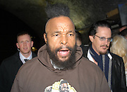 Picture by Mark Larner / Retna Pictures. Picture shows Mr T attending  the Snickers Tour Party at The Arches, London. 26th February, 2009