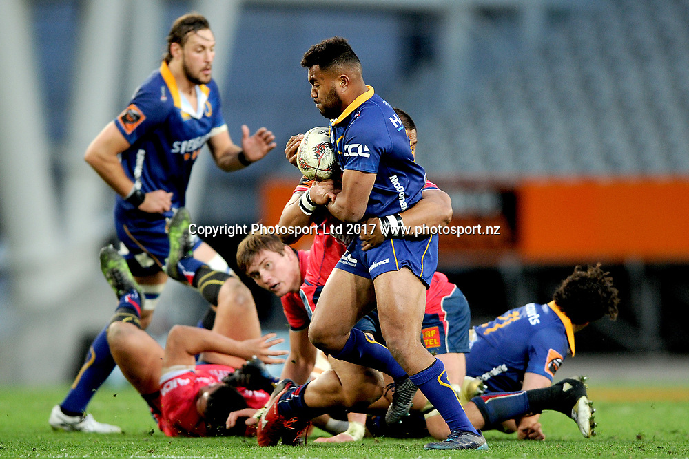 Latu Vaeno of Otago. Otago v Tasman. Mitre 10 Cup Championship Rugby Union. Forsyth Barr Stadium, Dunedin, New Zealand. 16 September 2017. Copyright Image: Joe Allison / www.photosport.nz