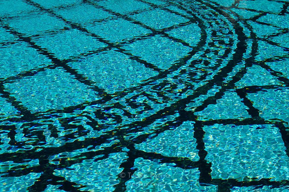 Outdoor pool at Hearst Castle, near San Simeon, California.