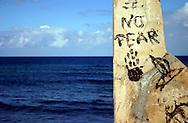 Graffiti in Santa Fe, Havana, Cuba.