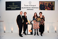 Left to right, GRAHAM BOYES, SABINA BELLI, VICTORIA STAPLETON and KATE SILVERTON at the presentation of the Veuve Clicquot Business Woman Award 2010 held at the Institute of Contemporary Arts, 12 Carlton House Terrace, London on 23rd March 2010.  The winner was Laura Tenison - Founder and Managing Director of JoJo Maman Bebe.