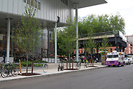 The Whitney Museum of American art and the beginning of the Highline Park on Ganzevoort street.