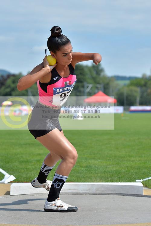 05/08/2017; Villalobos Gomez, Jennifer Guadalupe, F46, MEX at 2017 World Para Athletics Junior Championships, Nottwil, Switzerland